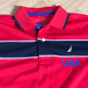 Nautica Shirts & Tops - Nautica Boys Polo Tee Shirt Size medium (10-12)